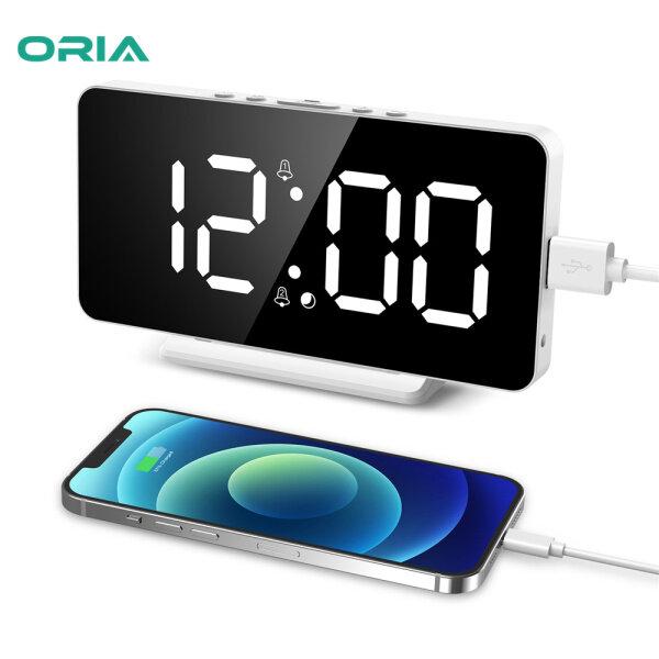 Nơi bán ORIA Đồng Hồ Kỹ Thuật Số 6.5 Inch Đồng Hồ Treo Tường USB Đồng Hồ Báo Thức LED Định Dạng 12/24H Với Chức Năng Báo Lại Độ Sáng Có Thể Điều Chỉnh