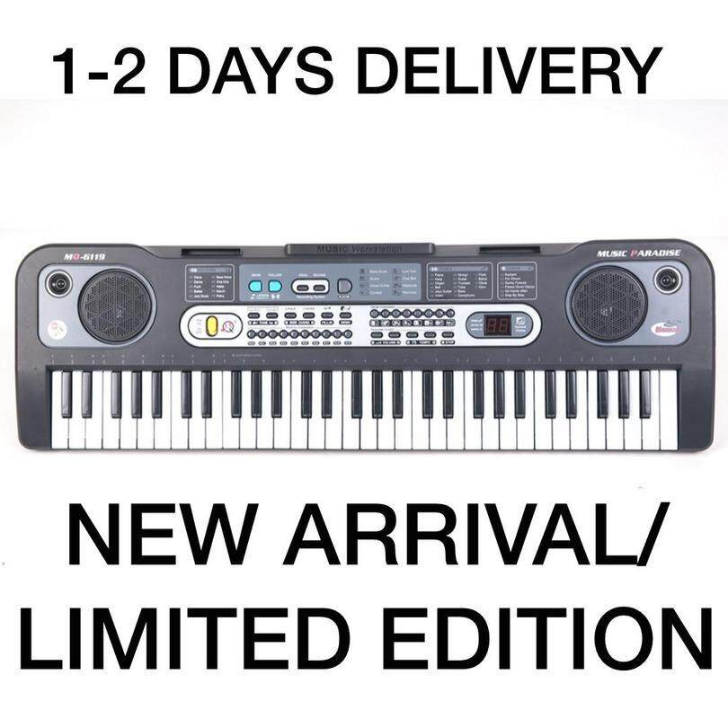 6A-6119 61 Keys Digital Piano Electronic Keyboard + Microphone + Cable /  Super Fast Delivery