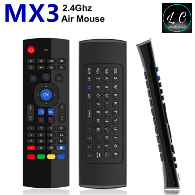MX3 2.4GHz Wireless Remote Control 6-Axis Inertia Sensors Fly Air Mouse with Keyboard Malaysia
