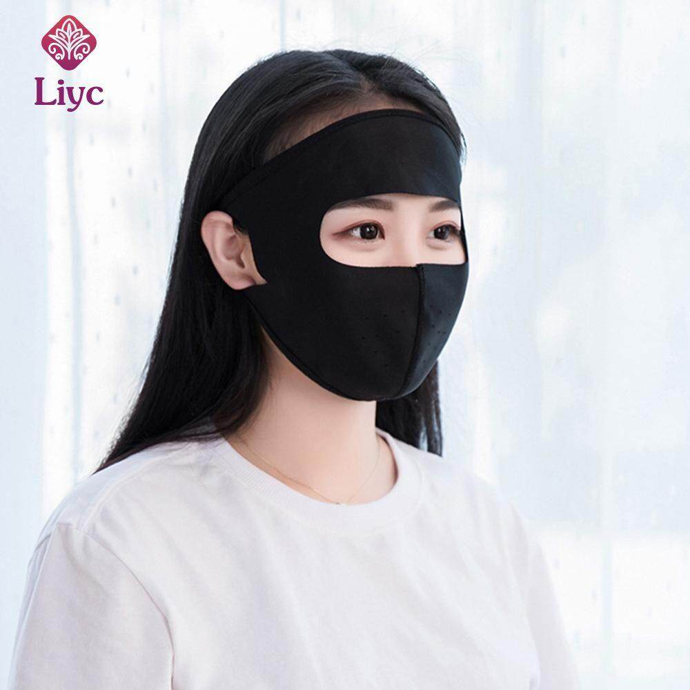 Liyc Summer women ice silk UV protection Sunscreen mask Bacteria proof mask PM2.5 filter protection Cycling Wearing Windproof Anti-Dust Mouth Face Masks Men