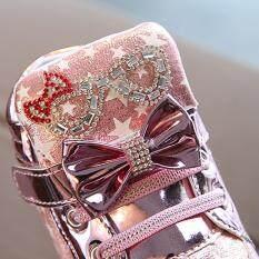 Giày bốt búp bê huadoaka cho bé gái giày thể thao thời trang phát sáng ngôi sao cho trẻ em bé gái trẻ nhỏ có nhiều màu