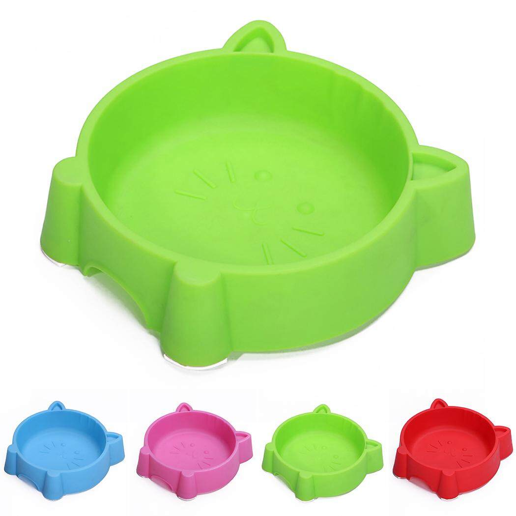 Pet Bowl Creative Portable Plastic Cat Face Multipurpose Cat Bowl Dog Bowl, Green By Five Star Store 2zz.