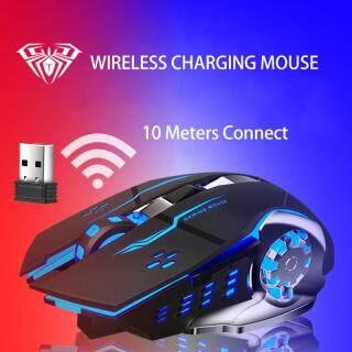 Chuột không dây AULA SC100, có sạc chống ồn, dành cho PC, máy tính xách tay - INTL thumbnail