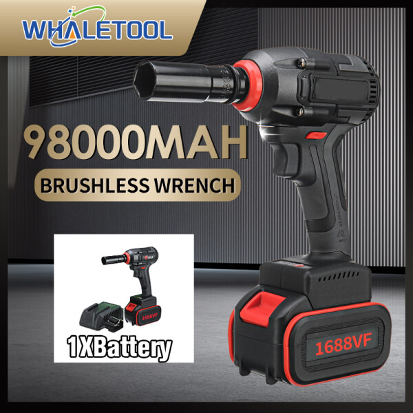 2488vf 990n.m Brushless cordless Impact Wrench Torque Drill 98000mah with LED Light Power Tools For Car Tyre Nut