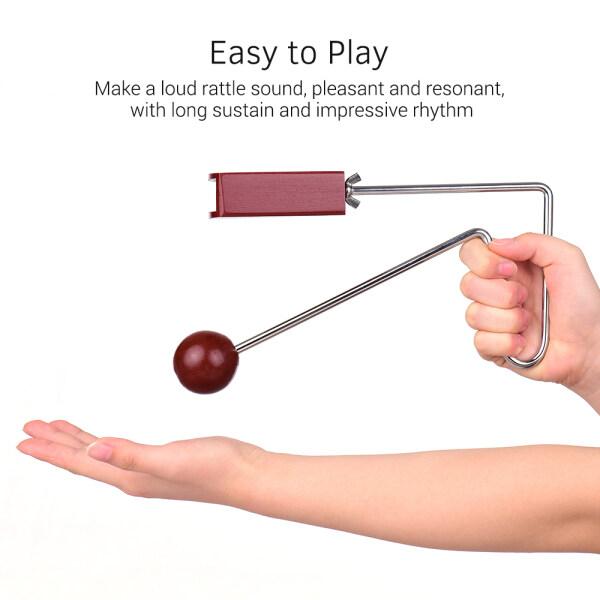 Vỏ rung bea-t bằng gỗ Dành cho trẻ em Nhạc cụ gõ tay giáo dục Hiệu ứng âm thanh