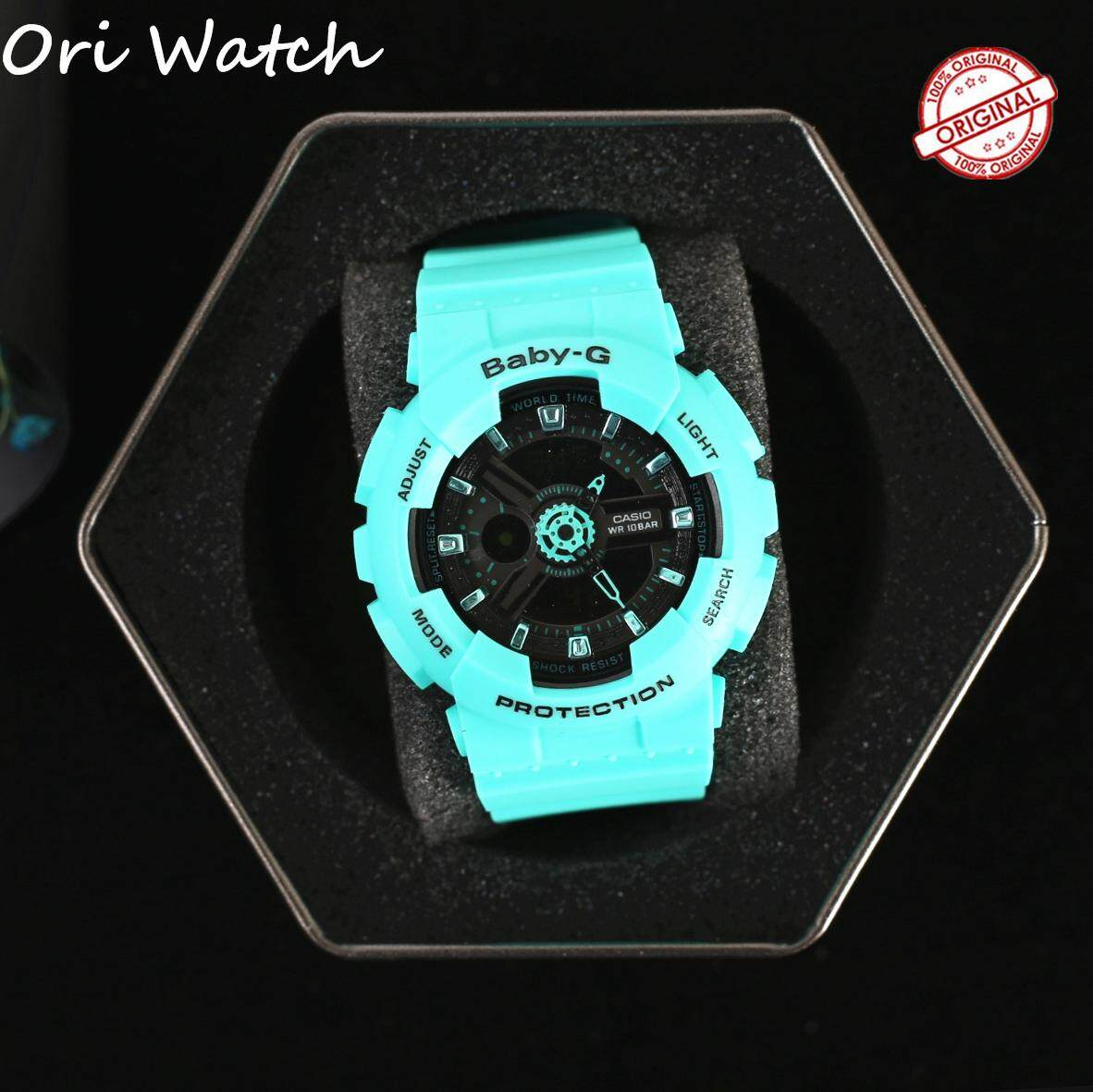 (Ready stock) Original Casio Womens Baby G_BA-111-3A Resin Strap womens Digital Watch Waterproof Shockproof Famous Brand Watches for women BA-110 / BA110 Malaysia