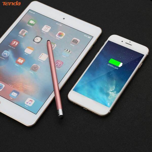 〔Tenda 〕WK128 Round Dual Tips Capacitive Stylus Pen Touch Screen Pen (Rose Gold)