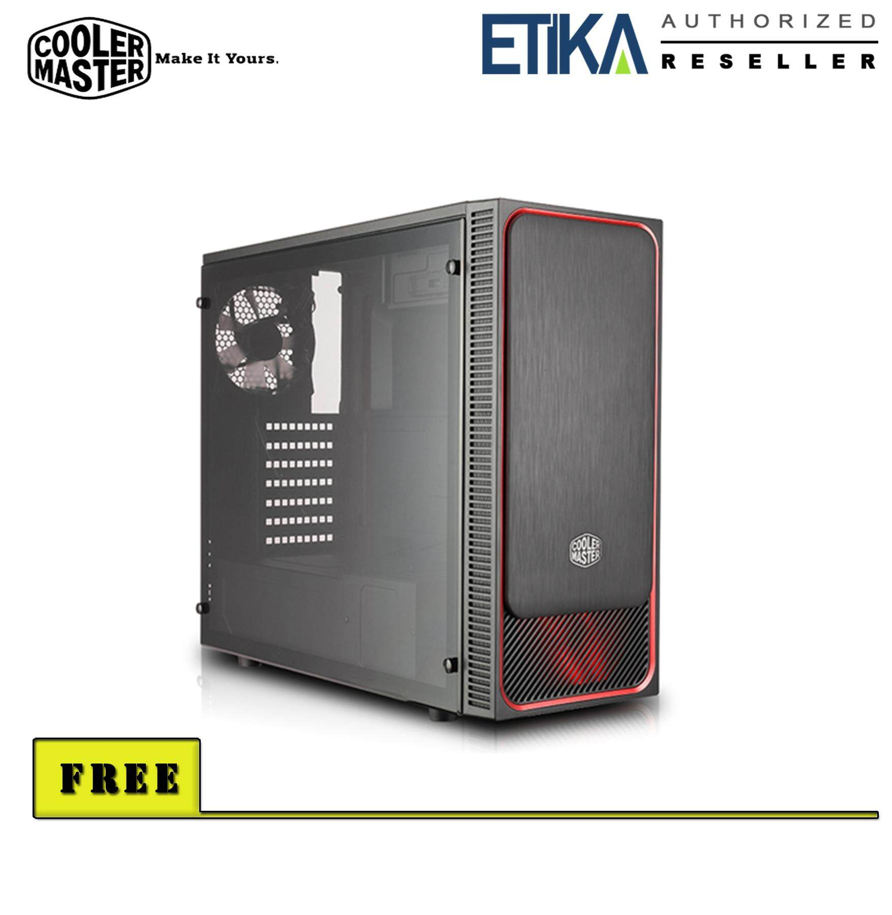 Cooler Master MasterBox E500L Mid Tower Chassis - Red [MCB-E500L-KA5N-S05] Malaysia