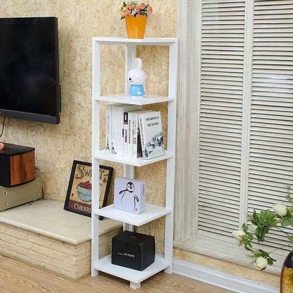 RuYiYu - 135x33x33cm, 5-Layer Verical Bookshelf, Living Room Floor Rack, Wood Bookcase Shelf, Succulent Flower Stand, Eco-frindly Print