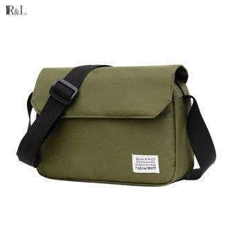 RL กระเป๋าสะพายข้างผู้ชายผ้าแคนวาสแบรนด์ไทด์สบาย ๆ กระเป๋าสะพายข้างญี่ปุ่นทั้งหมด