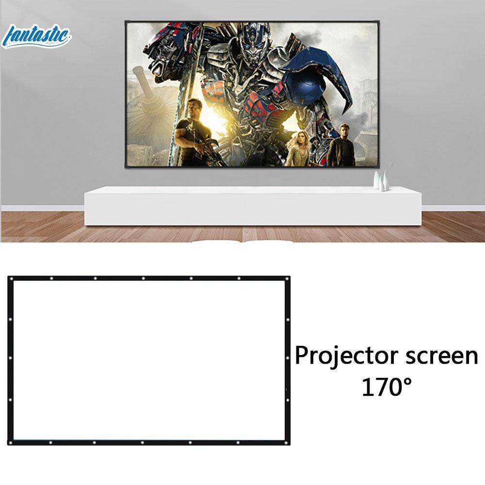 Fantasticmall 16:10 150inch 170 Degrees View Angle Projector Screen Projection Curtain Conferences Outdoor Movies Squares 150 Inches Home Cinema Wedding Foldable Portable