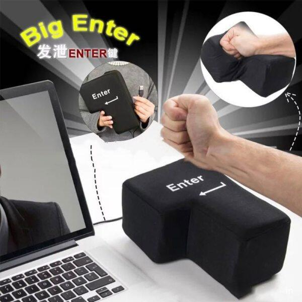 Big Enter Supersized Key USB Pillow Office Desktop Travel Nap for Anti Stress Relief Malaysia