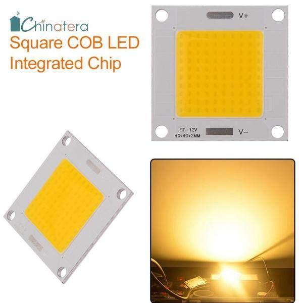 [Chinatera] DC 12-14V 50W COB LED Tích Hợp Chip 40X40Mm Vuông Ánh Sáng Bảng Điều Chỉnh Bóng Đèn Cho Tự Làm Spotlight