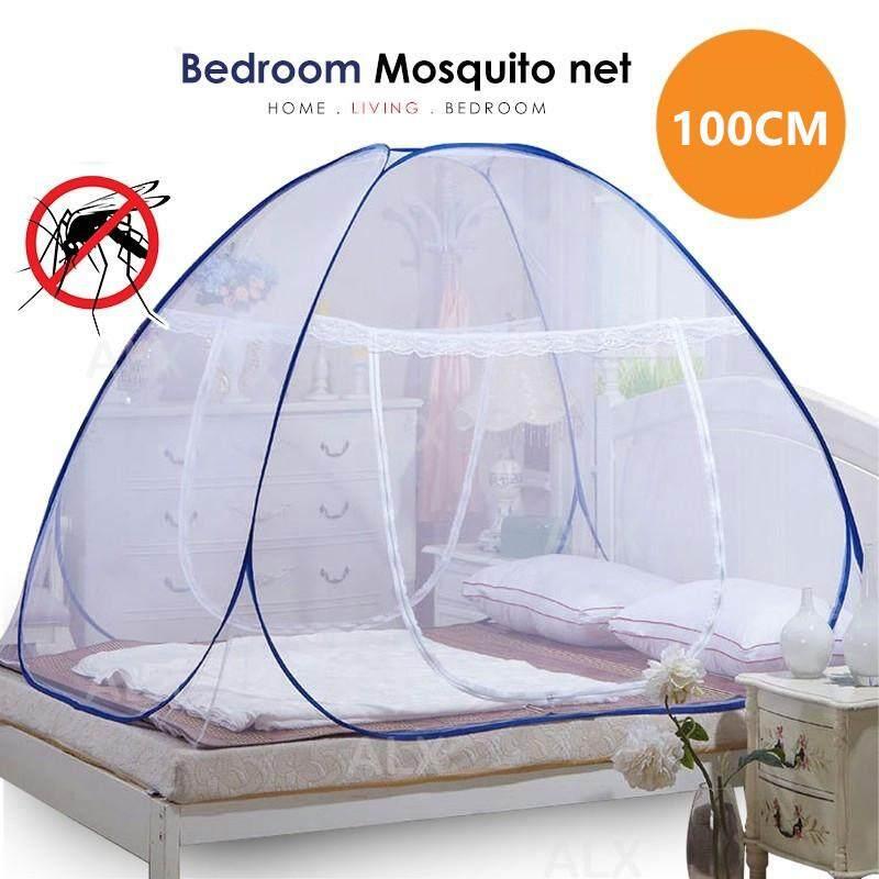 Self Foldable Mosquito Net 2 Door Kelambu Nyamuk 100cm 150cm 180cm