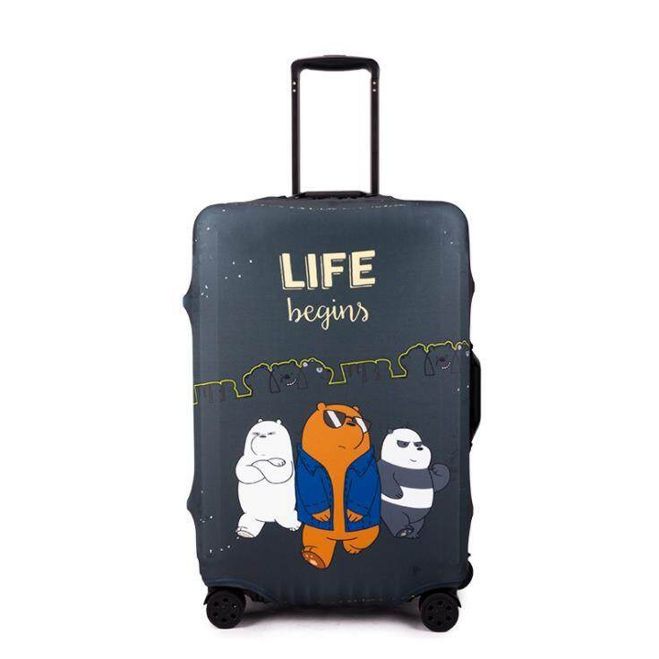 1pc We Bare Bears Elastic Travel Luggage Cover Suitcase Protective Case Protector - Size S Fit For 18-20 Luggage Bag By Somuchtowear.