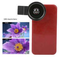 Bộ Ống kính điện thoại 0,45x ống kính macro 10x góc siêu rộng độ phân giải cao cho IOS/HTC