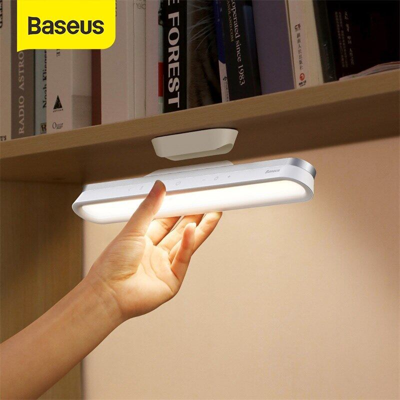 【COD】Đèn bàn Baseus Treo Đèn bàn Led từ tính Có thể sạc lại Đèn chiếu sáng vô cấp Đèn ngủ Đèn ngủ cho Nội thất gia đình Nghiên cứu Tủ quần áo Tủ quần áo
