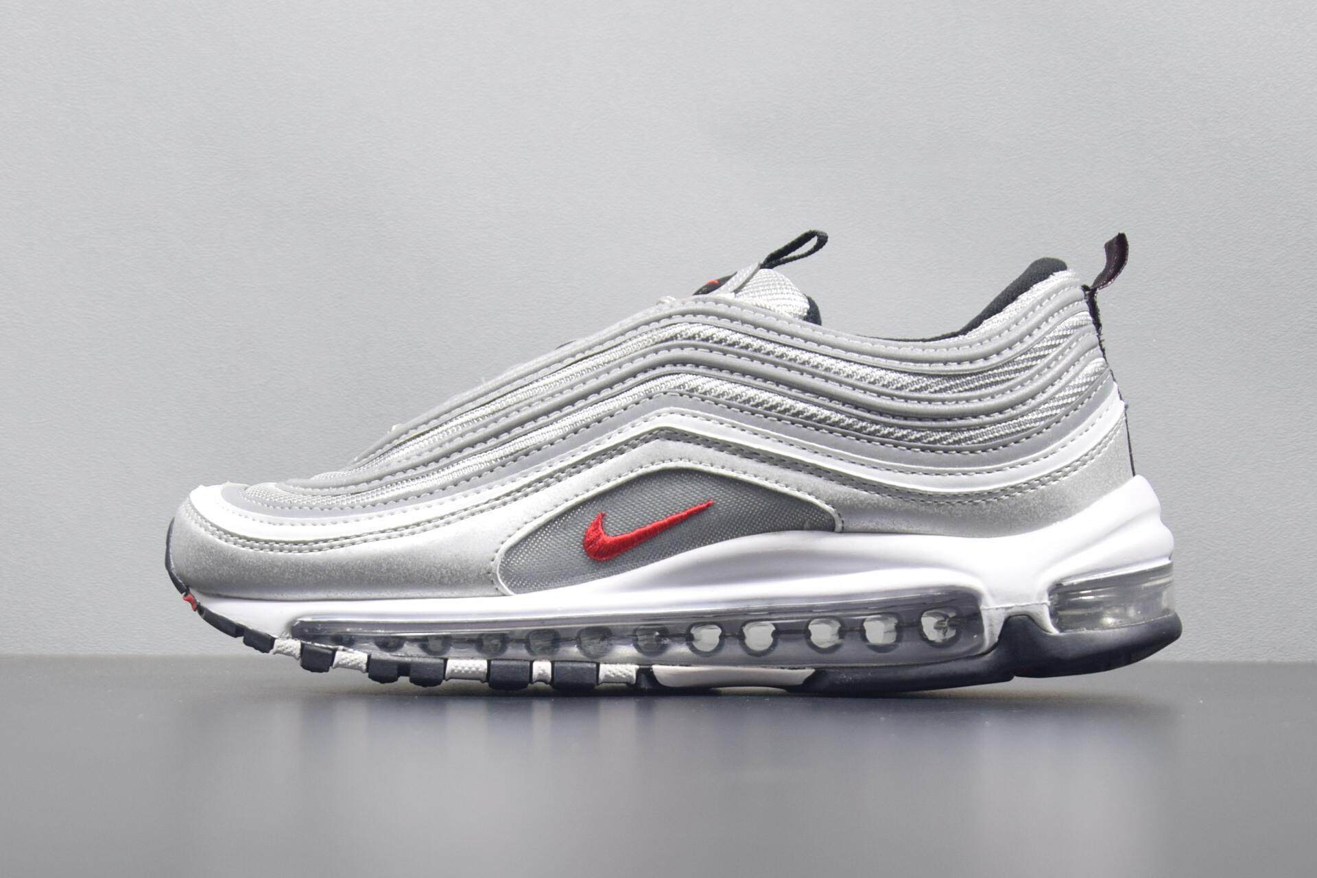 promo code 2468c defa0 2019 new genuine Nike Air Max 97 OG silver full palm sports cushion running  shoes men s