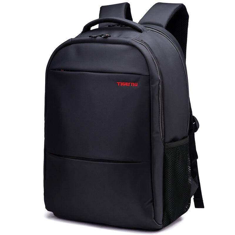 Tigernu Laptop Bag Student Bag Business And Leisure Travel Backpack Nylon Waterproof Computer Bag 17-Inch Backpack Black