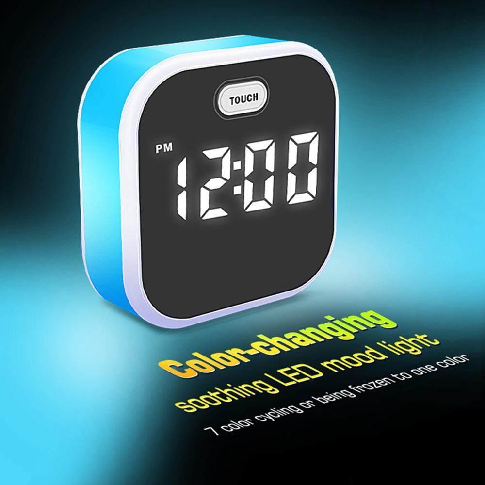 G&B Good Breeze LED Alarm Clock Digital Colorful Night Light Intelligent Temperature Display for Bedroom