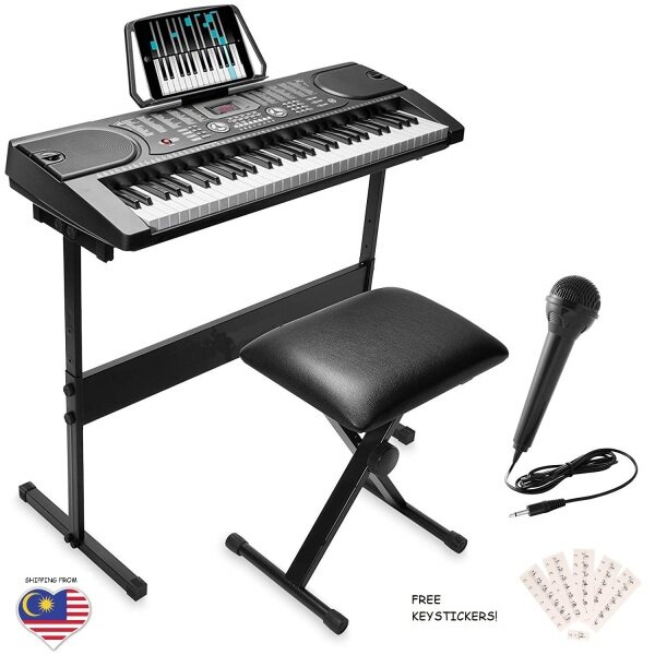 Fujicom 61 Keys Professional Electronic Piano Organ Portable Keyboard with AC adaptor Malaysia