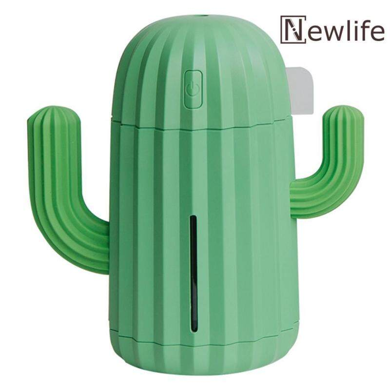 340mL Cactus USB Air Humidifier LED 7 Color Lamp Aromatherapy Oil Diffuser Singapore