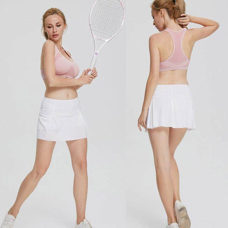 2019 Summer New Tennis Skirt Breathable Quick-Drying Loose High Waist  Sports Culottes Badminton Dance Yoga Golf Fitness Lined Pocket Short Skirt