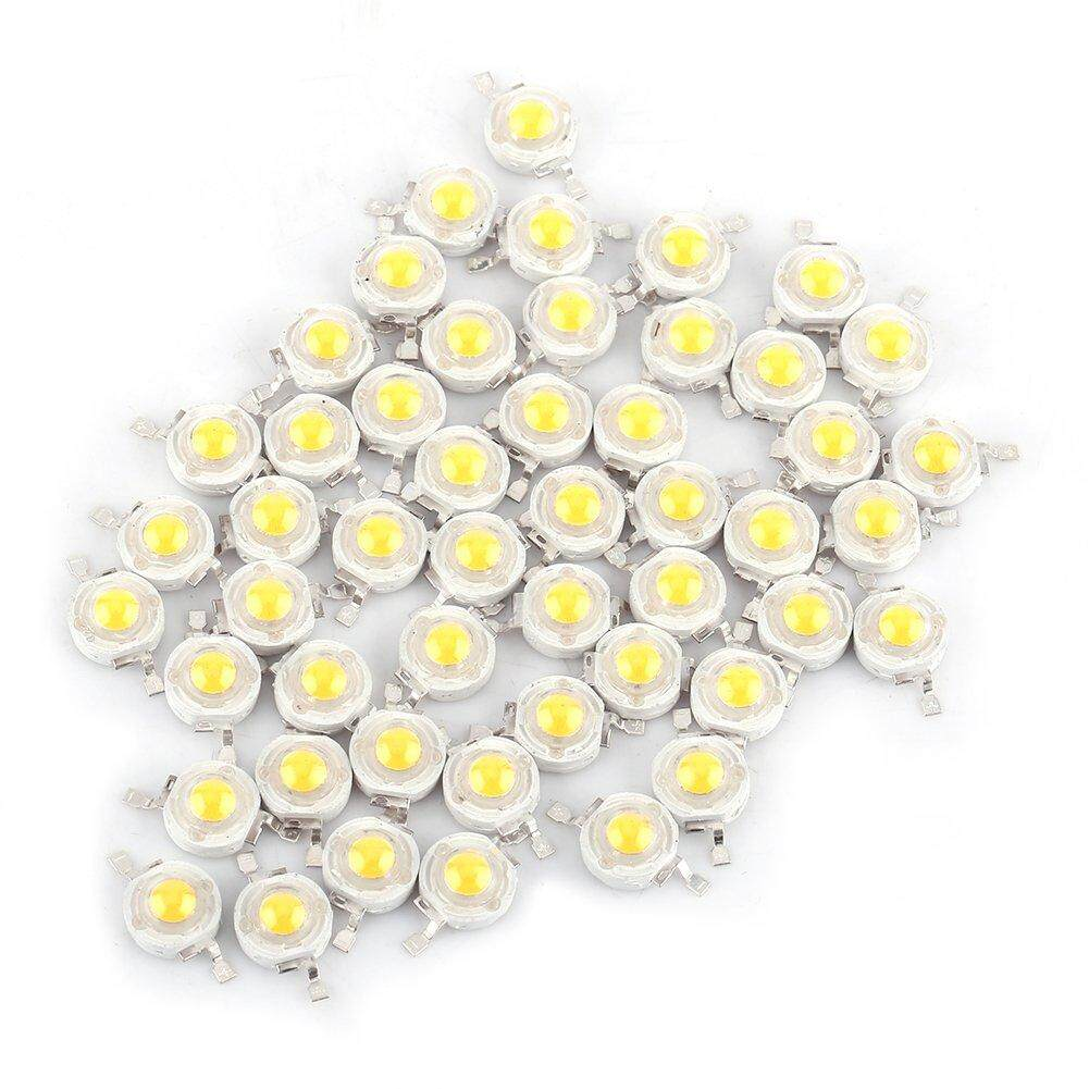 HT [Free shipping] 50pcs LED 1W Diode White Light 110-120 Lumens High Power Two-electrode Valve Beads