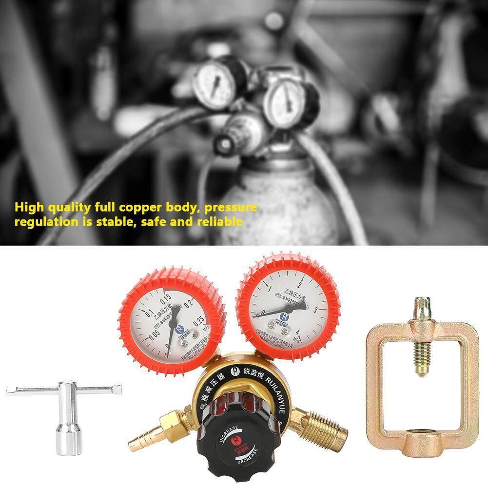 【Promotions】0.01-0.15MPa Acetylene Gas Pressure Reducer Air Flow Regulator Gauge Meter