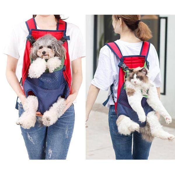Yanxean Portable Front Back Wear Ba lô cho Pet Dog Teddy Cat Du lịch ngoài trời