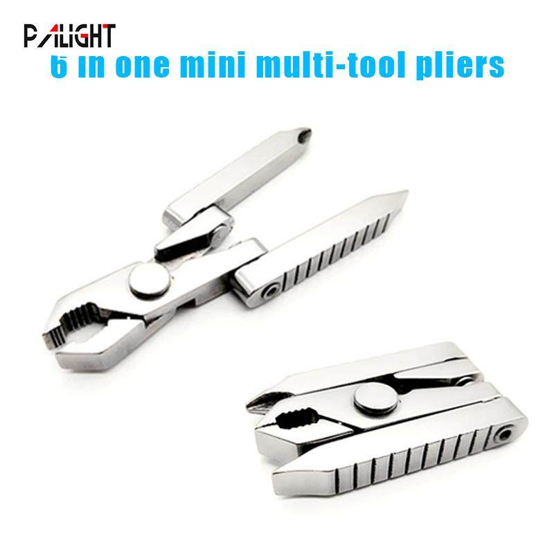 PAlight Multi-function 6 in 1 Outdoor Tool Clamp Mini Pliers Portable Folding for Camping
