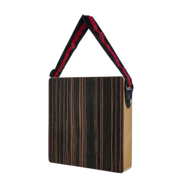Cajon Boxdrum Two Hands Black Travel Practice Drum Accompaniment Music Boxdrum Solid Wood   Portable with Strap Black