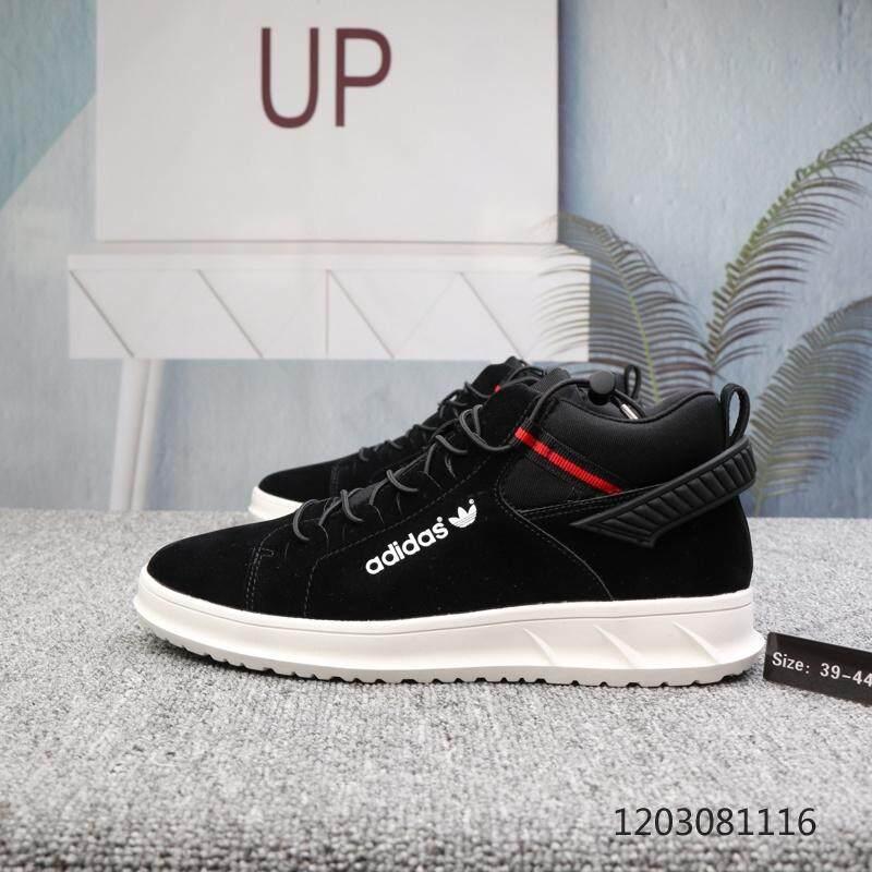 Sport Brand Adida_Skateboard Shoes Add Fleece Inside High-Top Casual Shoes Winter Wool Shoes
