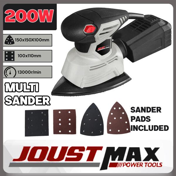 Joustmax 200W Multi Sander With 2 Types Sand Paper For Finishing Sanding Polishing Grinding JST61102