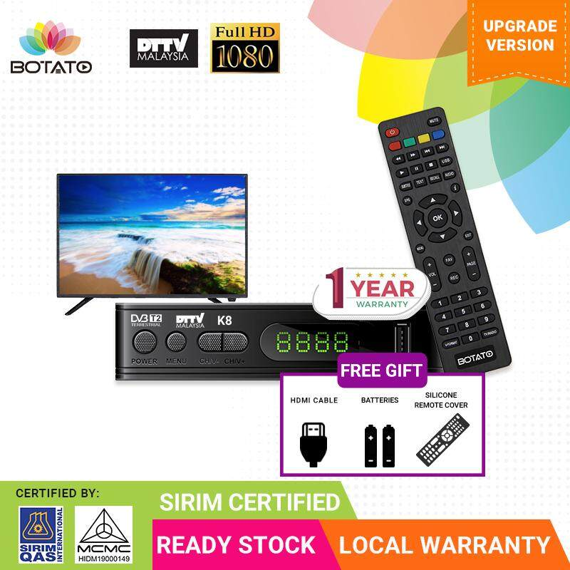 SIRIM & MCMC Certified [ 1 Year local warranty ] Myfreeview dvbt2 DVB T2  Set Top Box DTTV Decoder My Tv Full HD TV Digital Local tv mytv Decoder Set