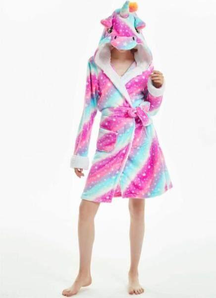 Nơi bán Vải Flanen Hình Động Vật Hoạt Hình 2020, Phụ Nữ Đội Mũ Trùm Đầu Áo Choàng Tắm, Áo Choàng Ngủ Nữ Có Dây Thắt Dày Ấm Áp Có Túi Váy Ngủ Nữ Mùa Thu Đông
