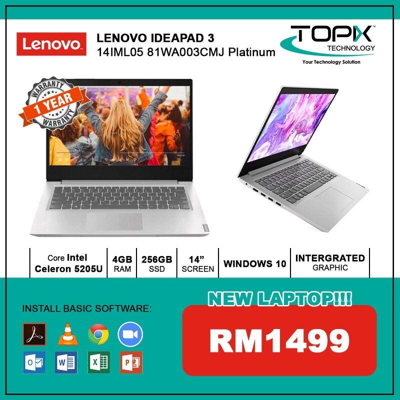 LENOVO IDEAPAD 3 14IML05 81WA003CMJ PLATINUM Malaysia