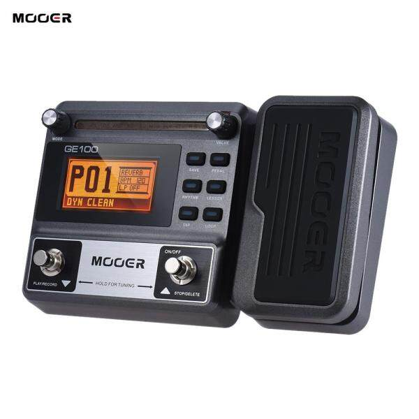 (hot)MOOER GE100 Guitar Multi-effects Processor Effect Pedal with Loop Recording(180 Seconds) Tuning Tap Tempo Rhythm Setting Scale & Chord Lesson Functions  UK PLUG  black Malaysia