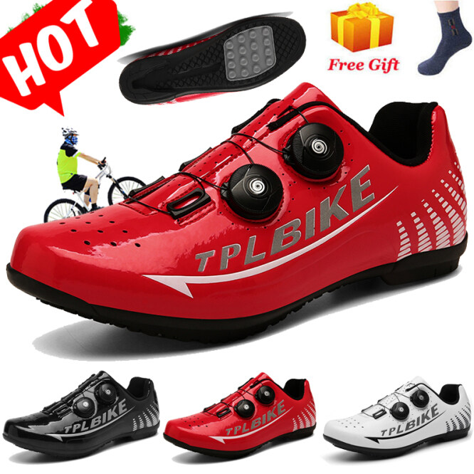 3 Colors Profession Sports Road Cycling Shoes Women and Men Team Mountain Road Bike Shoes Bicycle Full Casual Breathable Bike Non-Lock Shoes 36-46 giá rẻ