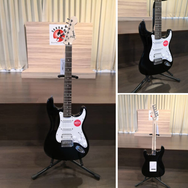 Squier Bullet Tremolo Stratocaster HSS Electric Guitar, Laurel FB, Black Malaysia