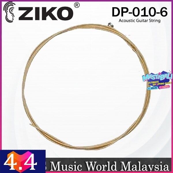 Ziko DP-010 Acoustic Guitar 6th Loose String Phosphor Bronze Extra Light Great Bright Tone Malaysia