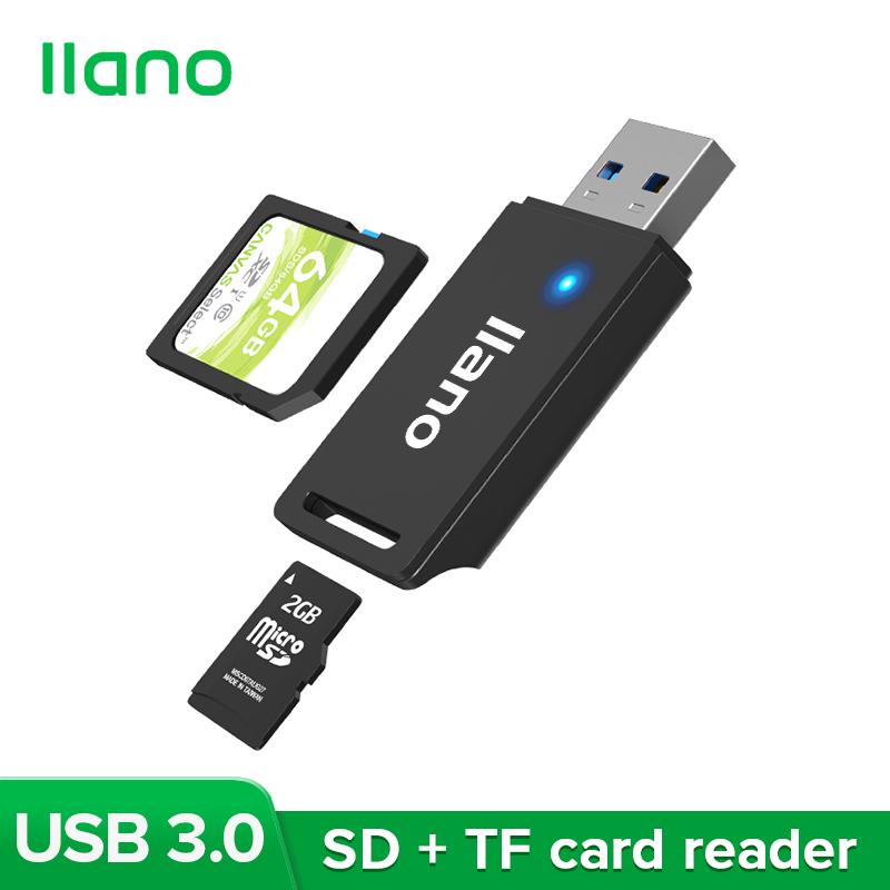 Đầu Đọc Thẻ Tốc Độ Cao Đa Chức Năng Llano Black USB 3.0 Hỗ Trợ SD, TF Và Các Thẻ Nhớ Khác