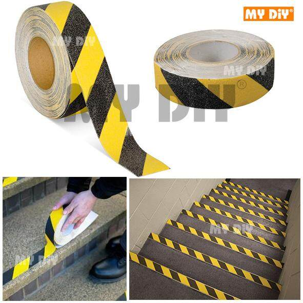 MY DIY - Anti Slip Tape – Yellow Black / Zebra Anti Slip Adhesive Tape 50mm x 5m