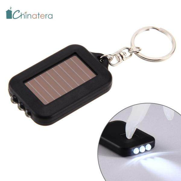 [Chinatera] Đèn Pin Điện 3 Đèn LED Năng Lượng Mặt Trời Đa Năng Cầm Tay Mini Phụ Kiện Móc Chìa Khóa Đèn Ngoài Trời