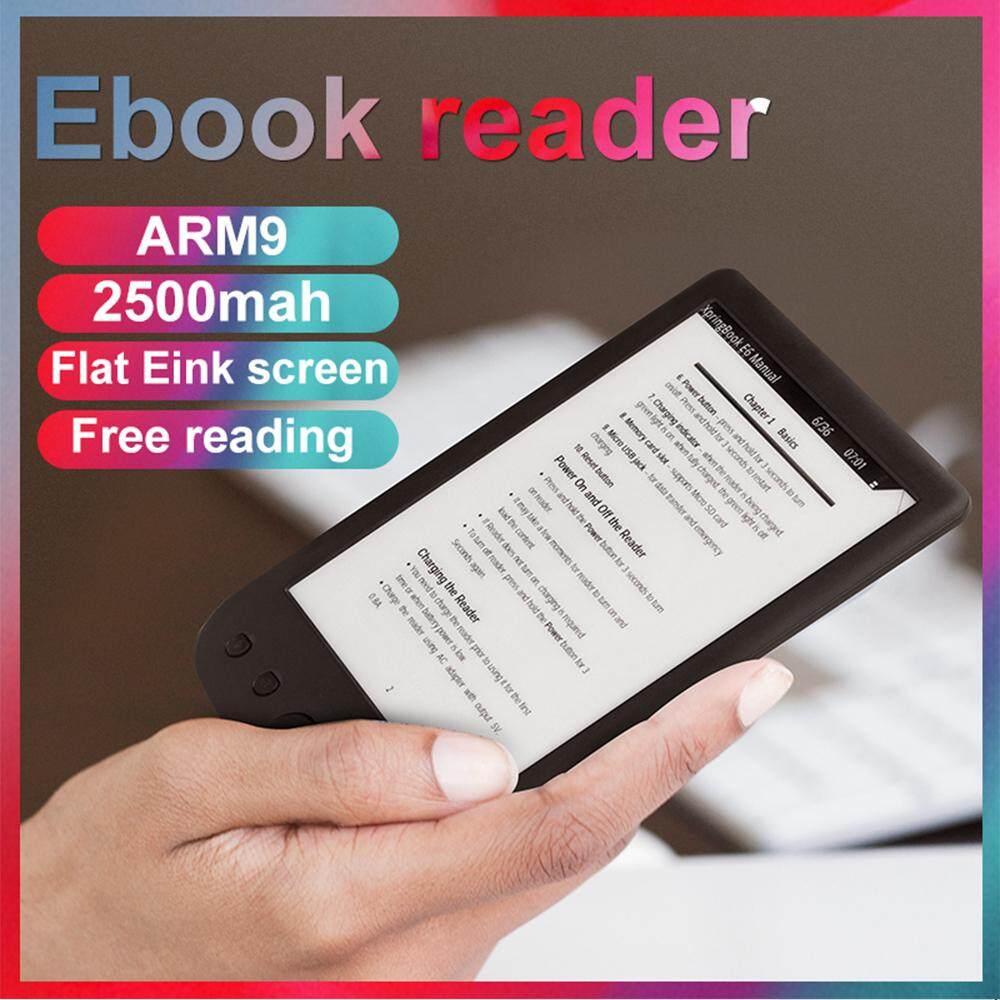 เครื่องอ่านe-Book 6 นิ้ว,หน้าจอe-Inkความละเอียด 600 * ปราศจากแสงพร้อมสายusbปกpuจัดเก็บข้อมูล 8gbในตัวเครื่องอ่านe-Readerรองรับการ์ดtf.