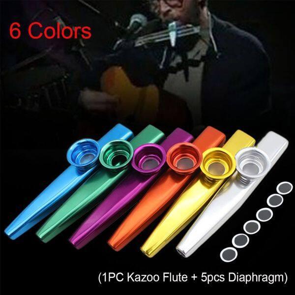 JUTBONG Party Aluminum Children Kids Silver Metal 5 Pcs Diaphragm Harmonica Kazoo Flute Malaysia