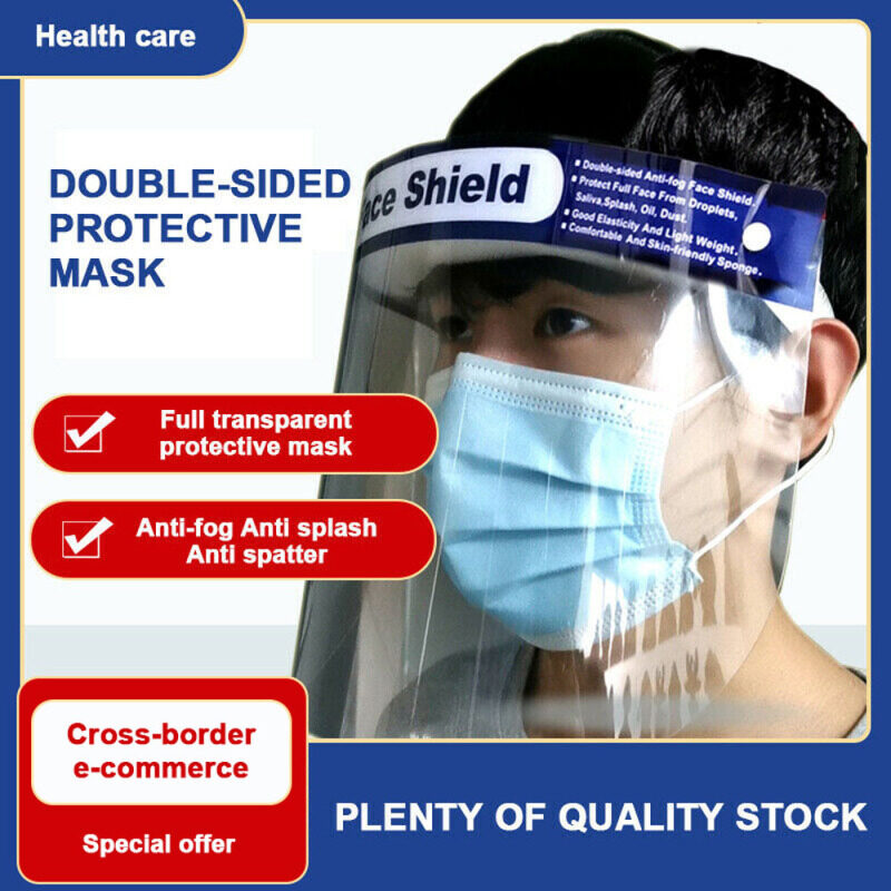 Universal Transparent Anti-fog Plastic Epidemic Protective Full Face Safety Protective Mask Cover Face Shield Protective mask