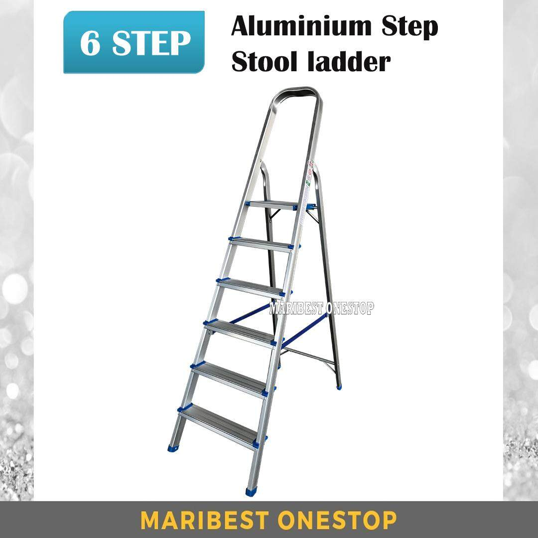 6 Step Foldable Aluminium Step Stool Ladder SAL6