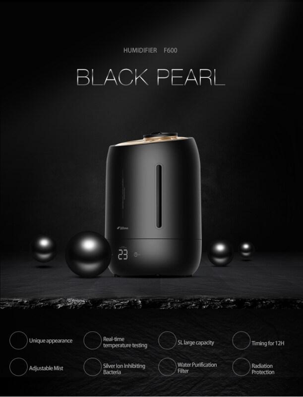 Bình Giữ Ẩm Không Khí Deerma F600, Màn Hình LED Kỹ Thuật Số, Có Tay Cầm, Dây Cắm 3 Chân Msia 5L (Hoặc Deroma Essential)
