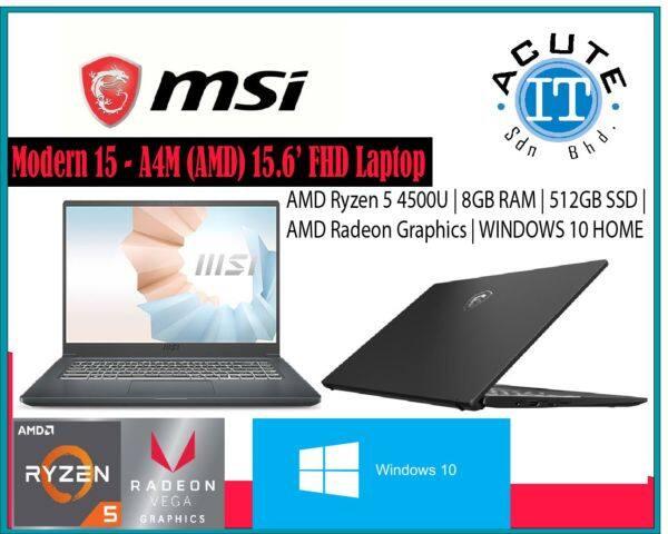 MSI Modern 15 A4M-021MY 15.6 FHD IPS Laptop Malaysia